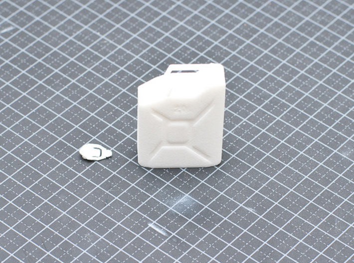 NATO 20L Jerry Can 1/10 Scale 3d printed White Strong Flexible printed version.