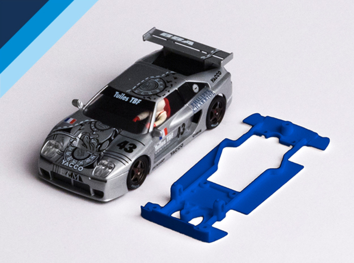 1/32 Fly Venturi 600 LM Chassis for slot.it pod 3d printed Chassis compatible with Fly Venturi 500 LM / 600 LM body (not included)