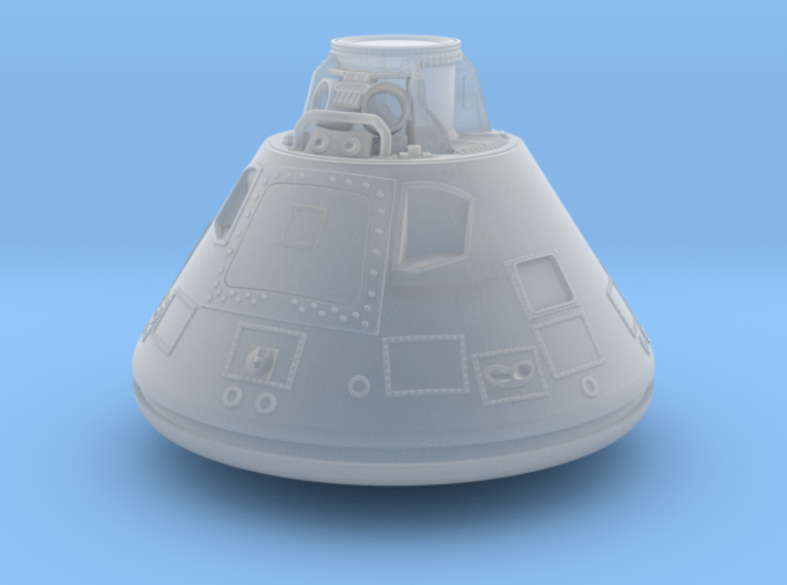 Apollo CM w Parachute Bay 1:72 3d printed