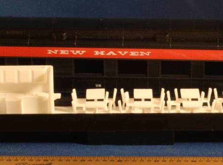 Athearn Heavyweight Passenger Diner Car Interior H 3d printed