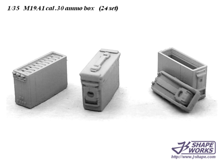 1/35 M19A1 cal .30 Ammo Box (24 set) 3d printed