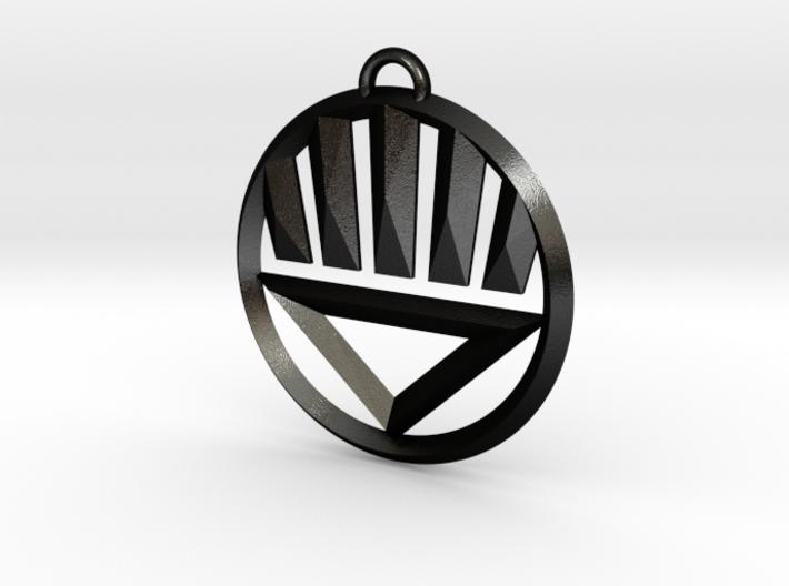 Black Lantern Keychain 3d printed