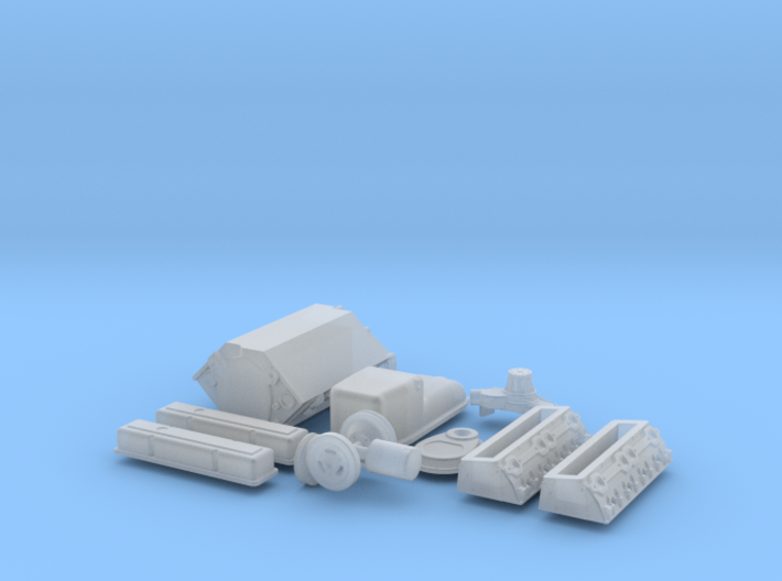 1/24 Small Block Chevy Basic Engine Kit 3d printed
