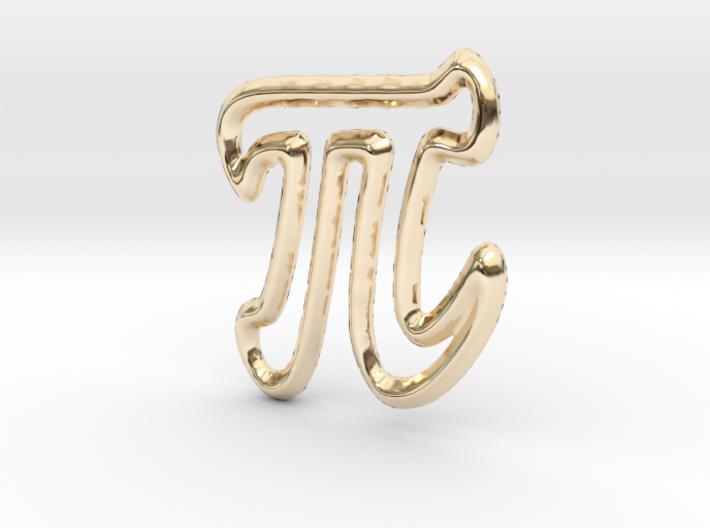 Pi Pendant/Charm - 16mm 3d printed