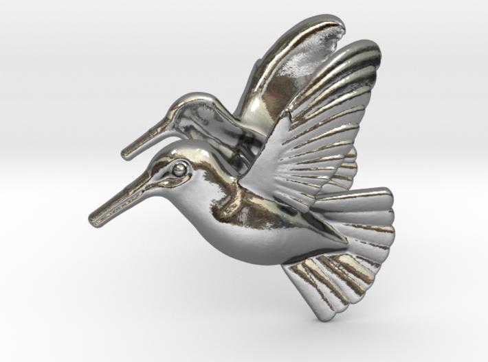 Hummingbird Earrings 3d printed