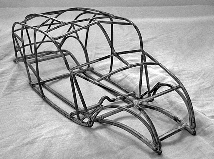 "1934 Chrysler Airflow Dealer Promo 16"" Frame model 3d printed 1934 metal frame model that was laser scanned to produce the plastic replica that you will receive."