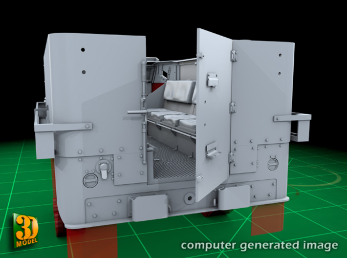 M5 Halftrack conversion with M5A1 Lights 3d printed M5 with M5A1 lights - rear door