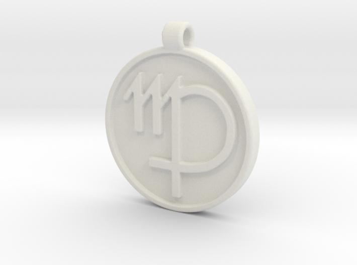 Zodiac KeyChain Medallion-VIRGO 3d printed