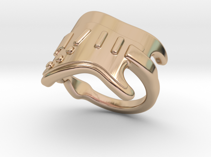 Electric Guitar Ring 23 - Italian Size 23 3d printed
