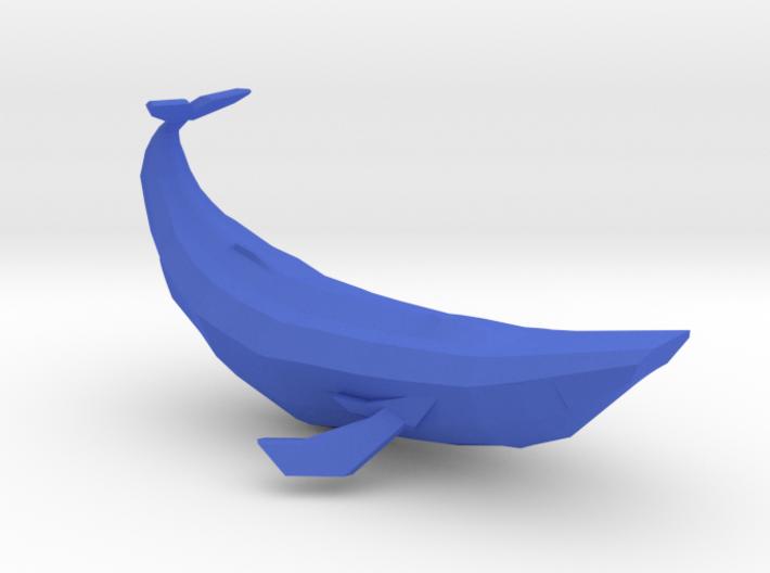 Geometric Blue Whale 3d printed