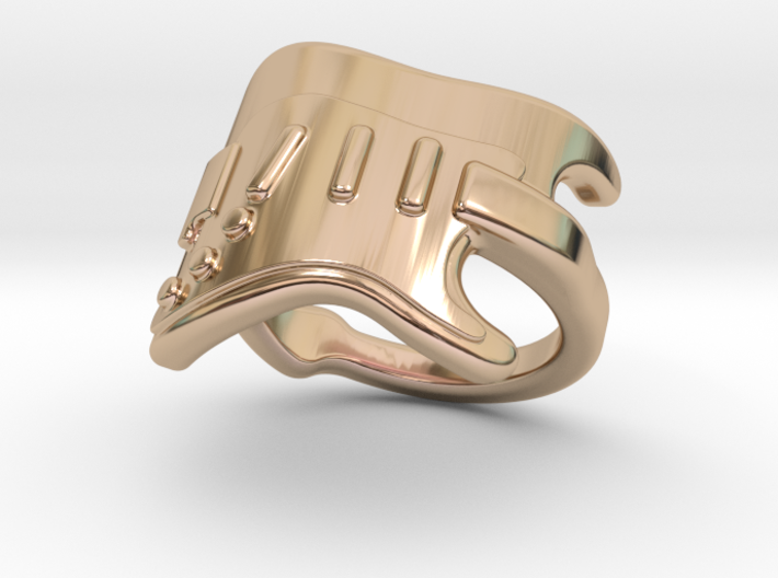 Electric Guitar Ring 25 - Italian Size 25 3d printed