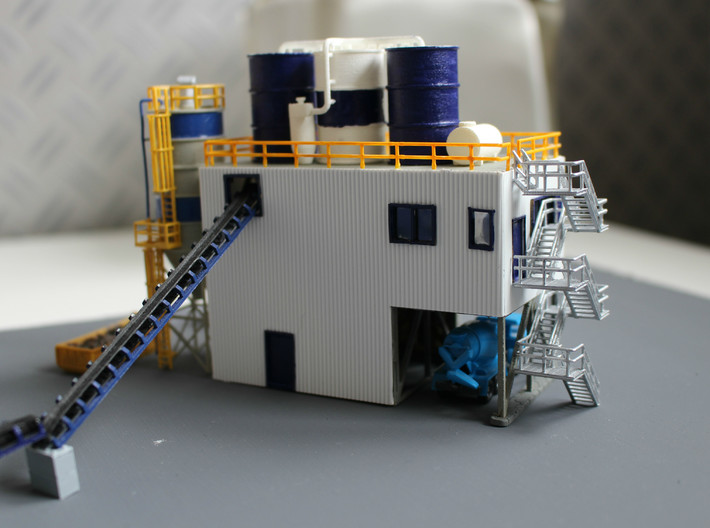 N Scale Concrete Plant Stairs 60.2mm 3d printed