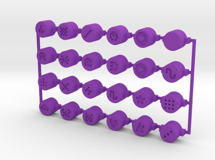 PO-20 button set 3d printed