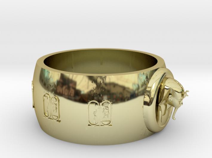 Ø0.698 inch/Ø17.75 mm Toetanchamon Ring. 3d printed