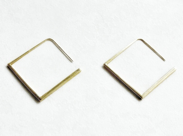 Square Earring 3d printed