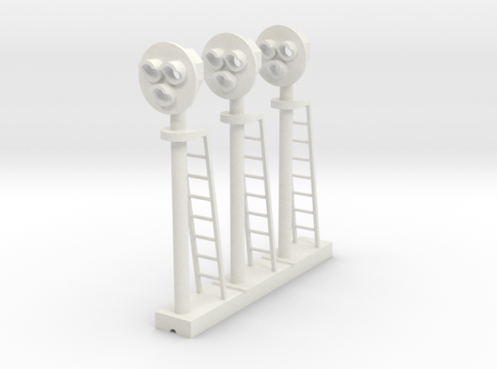 Target Signal 3 Light (Qty 3)- HO 87:1 Scale 3d printed