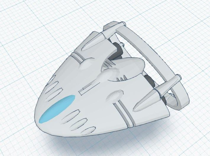 Slipstream BR-1 Heavy 3d printed XIA Tier 3 Ship REGULATION XIA SPEC