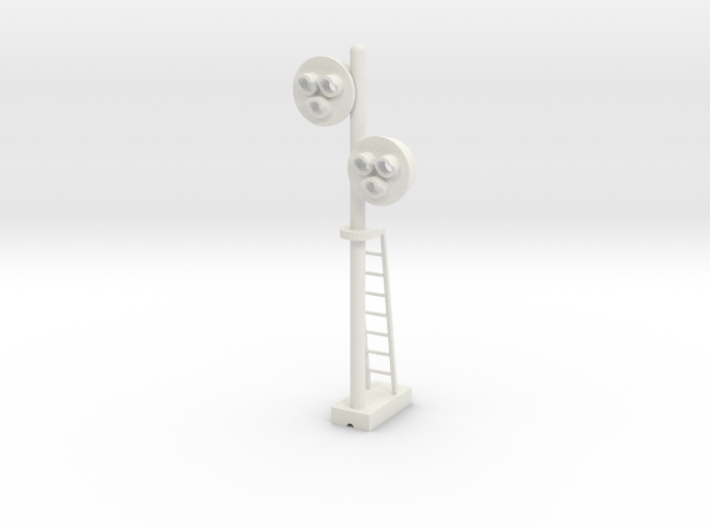 Target Signal Double 3 Light - HO 87:1 Scale 3d printed