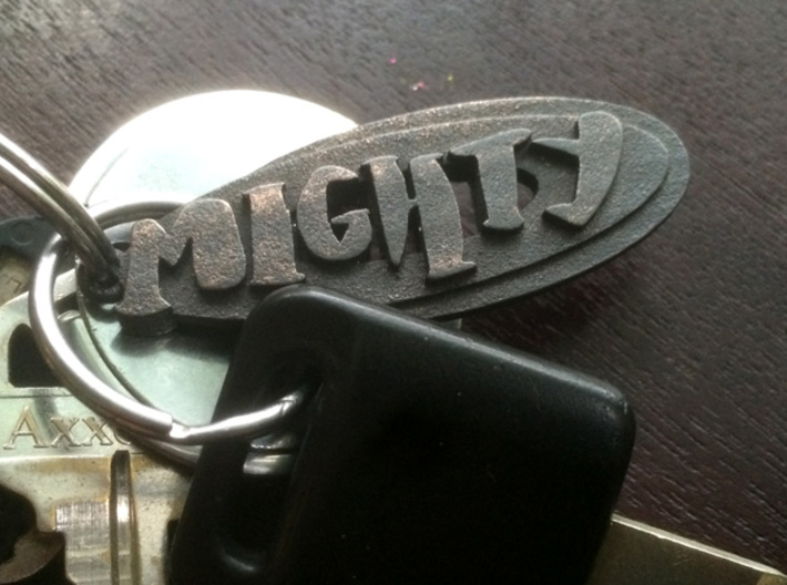 a Mighty Pendant (hand drawn) 3d printed the finish will grow and evolve -- and get more mighty!