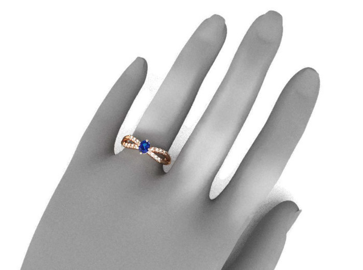 Solitaire Engagement Ring 3d printed