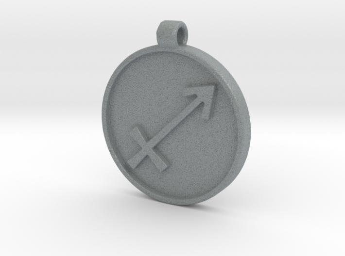Zodiac KeyChain Medallion-SAGITTARIUS 3d printed
