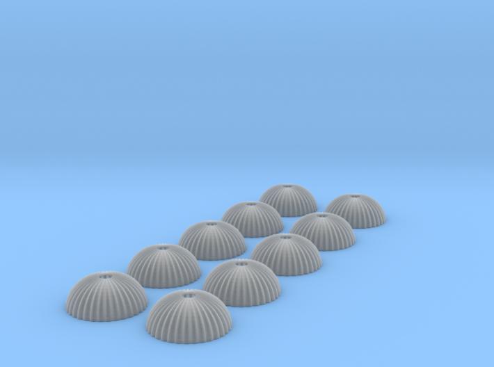 1/400 scale army parachute para Fallschirm 10 of 3d printed