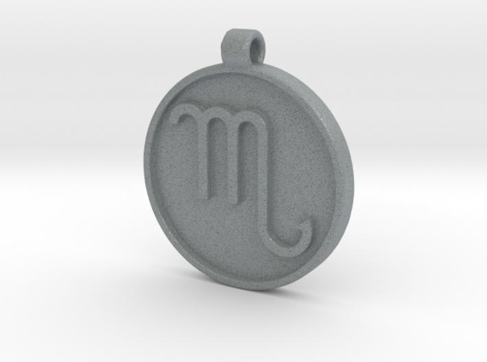 Zodiac KeyChain Medallion-SCORPIO 3d printed