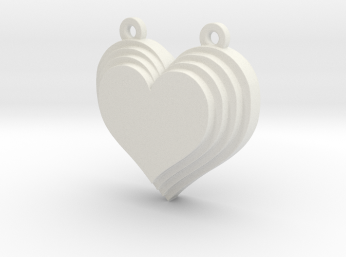 Terracing Heart Pendant 3d printed