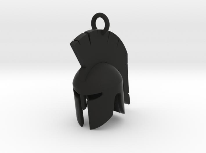 Spartan helmet keychain/pendant 3d printed