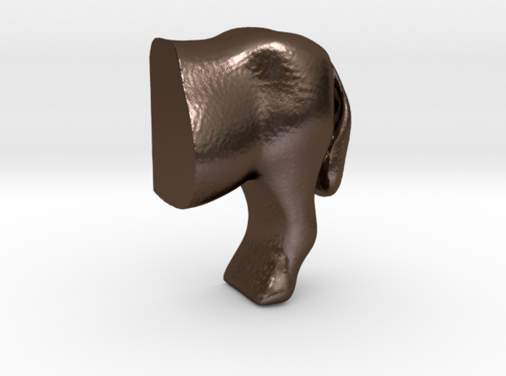 Donkey handle half1 3d printed