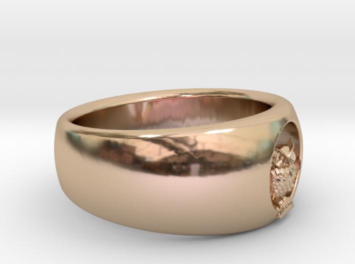 Ø0.732 inch/Ø18.61 Mm Owl Ring 3d printed