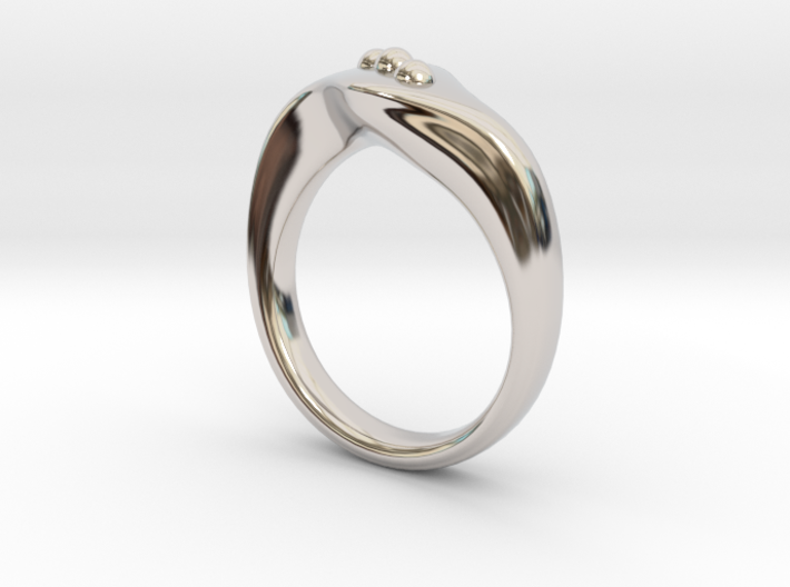 Modern style ring Size 10 3d printed