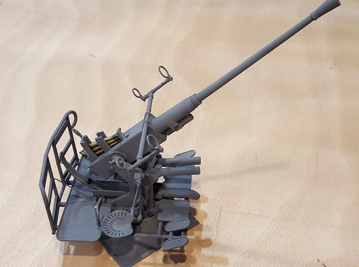 40mm Bofors single, multiscale 3d printed Actual model in 1:16 scale