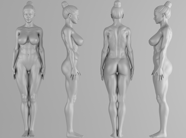 Fitness Girl 001 Scale 1/10 3d printed