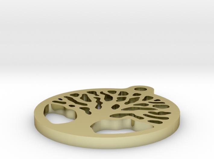 Tree Earring 3d printed