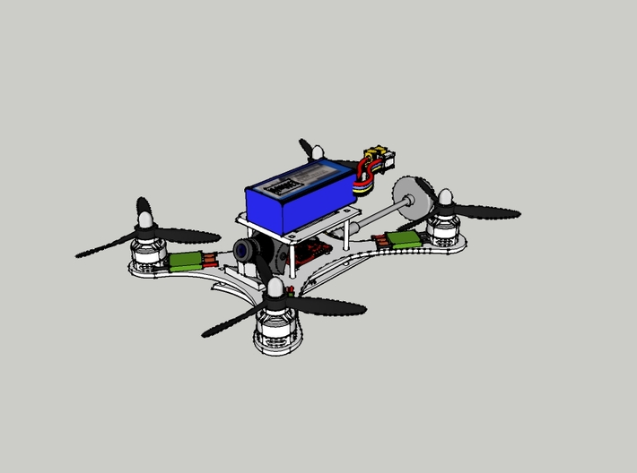 205mm Racing Quadcopter Frame - Q205v2 3d printed A foreseeable configuration