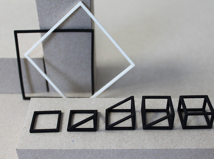 CUBE - ring or pendant - 3P 3d printed