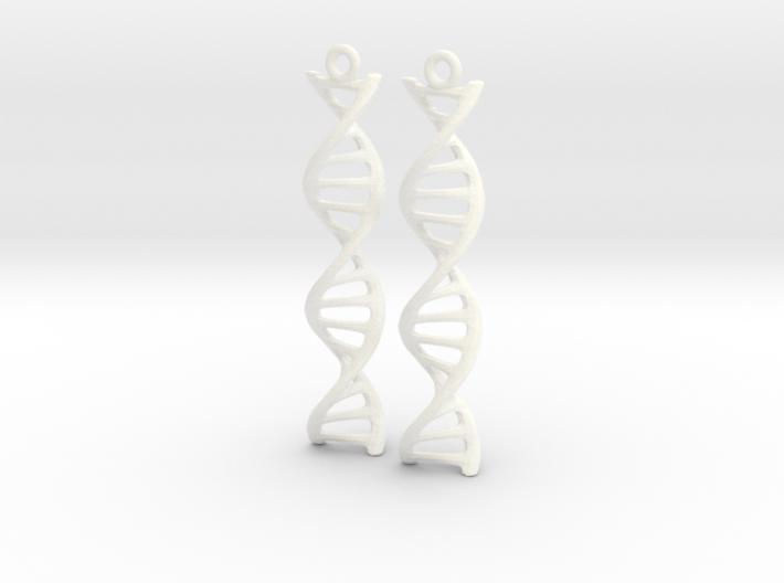 DNA Earrings 3d printed
