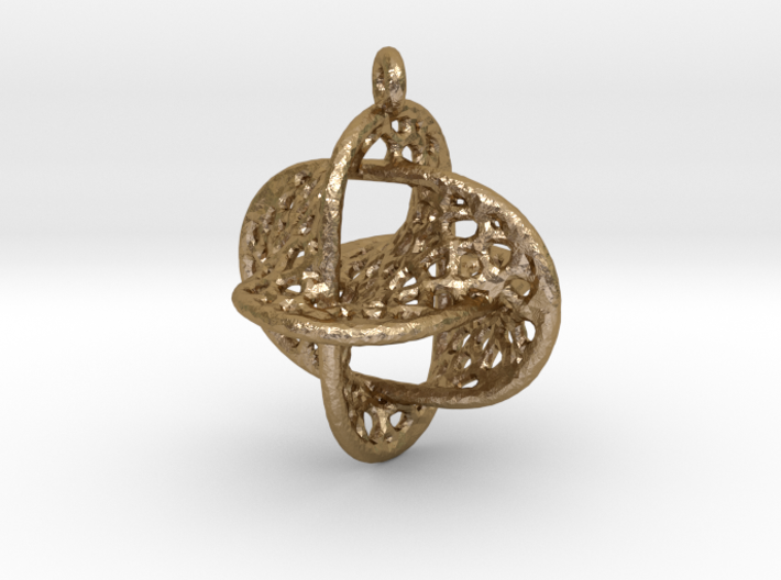Voronoi Borromean Pendant (Earrings) 3d printed