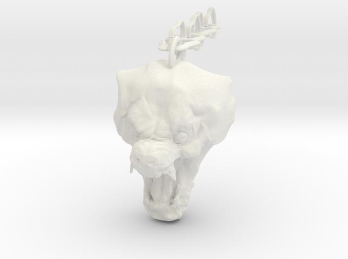 Werewolf keychain 3d printed