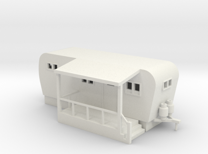 Trailer Mobile Home 20ft - HO 87:1 Scale 3d printed