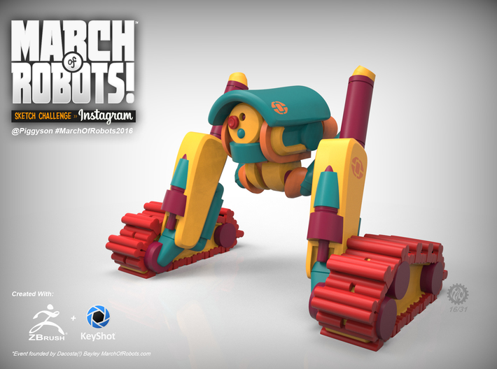March 16 Robot 3d printed