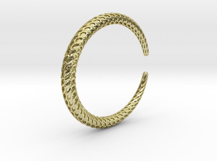 DRAGON Solid, Bracelet Thin, Medium Size,d=6 3d printed