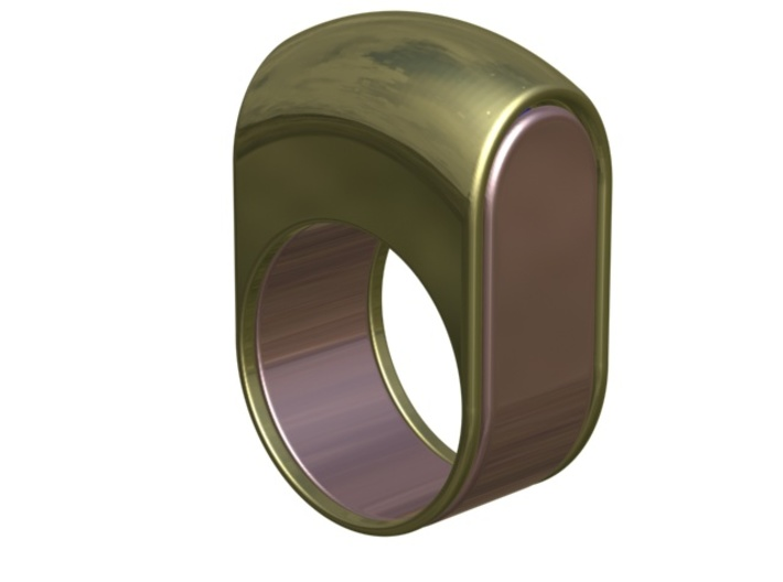 Lid for Compact Pillbox Ring - size 10 3d printed Pillbox Ring closed