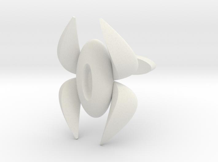 SwoopHorn Cufflink 3d printed