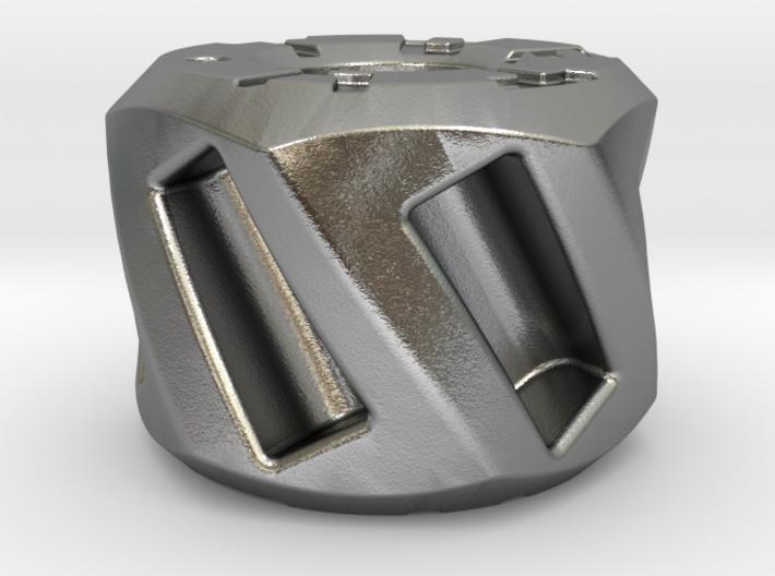 Twisted Hex Bead 2: Tritium 3d printed