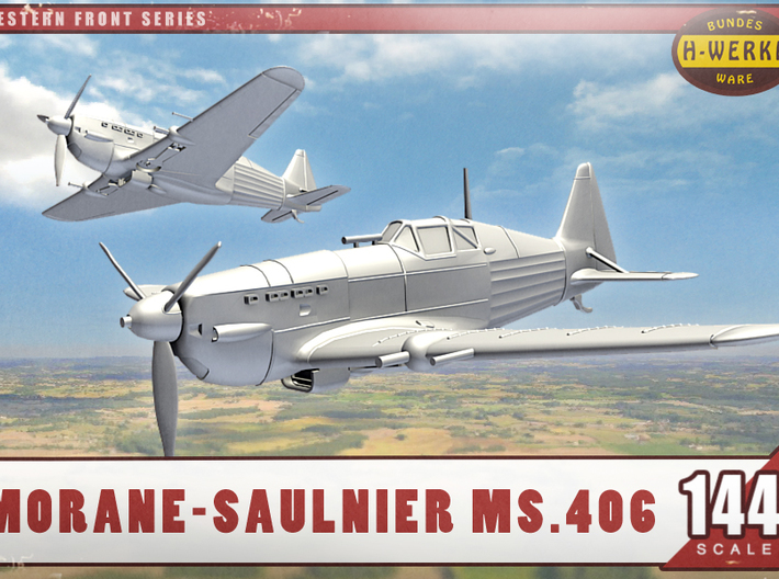1/144th - Morane-Saulnier Ms.406 3d printed