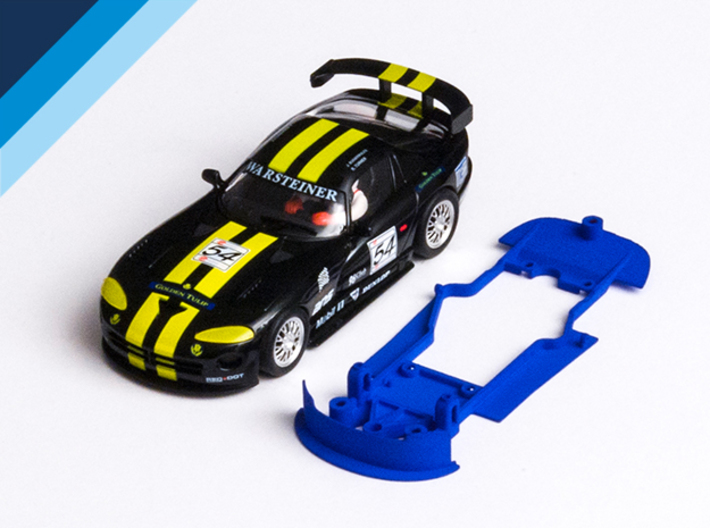 1/32 Fly Dodge Viper GTS-R Chassis for slot.it pod 3d printed Chassis compatible with Fly Dodge / Chrysler Viper GTS-R body (not included)