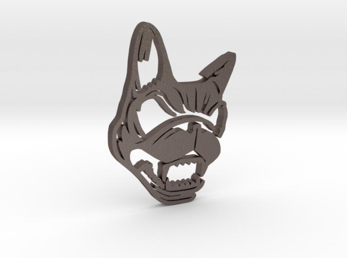 Download Dog Pendant 3d printed