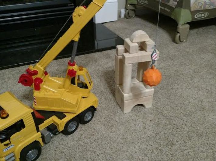 Smooth Wrecking Ball for Bruder Crane Toy 3d printed